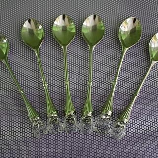 Комплект чаени лъжички със сребърно покритие