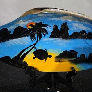 Тропическа мида рисувана 23 см
