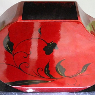 Hand made lacquer vase for dry flowers LV 181 D.Hight 23.5 sm