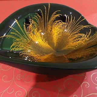 Lacquer big hearth bowl-30 x 22 x H9cm