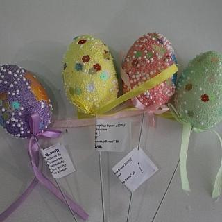 Великденски декоративни яйца на клечка