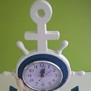 Морски Сувенир котва със часовник
