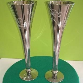 Метализирани и гравирани чаши Аморе