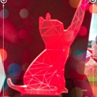 3D лампа котка