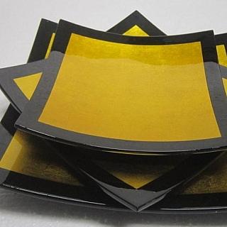 Ръчно изработени комплекти квадратни сувенирни чинии 3 бр.
