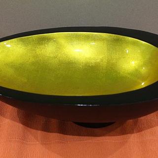 Lacquer egg bowl 38 x 28 x H12cm
