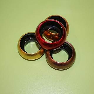 Ръчно изработен кръгъл свещник / държател за салфетки
