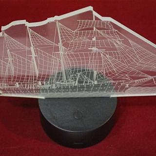 3D лампа кораб