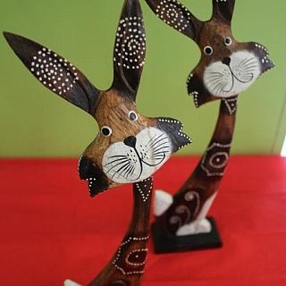 Великденски заек от дърво