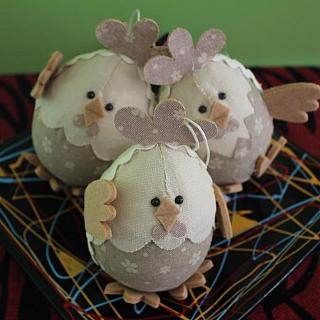 Декоративно яйце пиле ръчна изработка