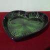 Ръчно изработена ;лакирана чиния сърце-зелена