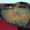 Ръчно изработена ;лакирана чиния сърце-жълта